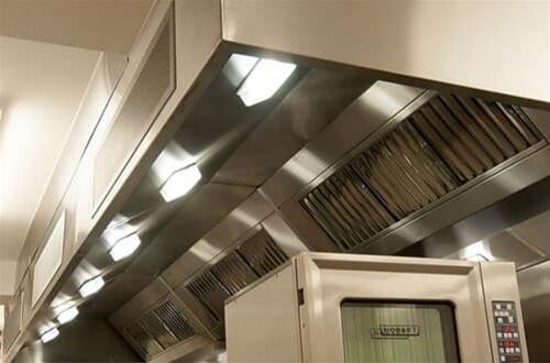 lighting for commercial canopy hoods