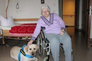 Durch die Größe können auch Senioren im Rollstuhl in den Kuschelgenuss kommen
