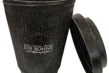 Kaffeebecher Bohne offen