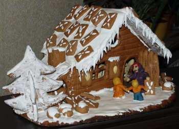 Winterwonderland  Lebkuchenhaus