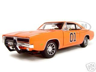 "1969 Dodge Charger General Lee From Movie ""The Dukes Of Hazard"" 1/18 Diecast Model Car by Johnny Lightning"