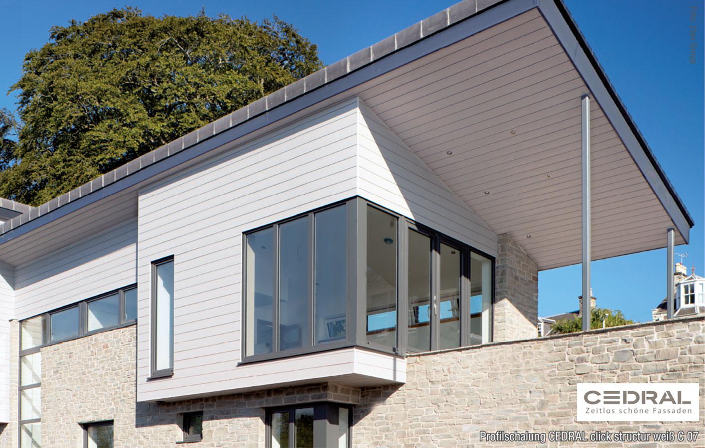 Cedral Click Profilschalung Eternit Fassadenpaneele Faserzement