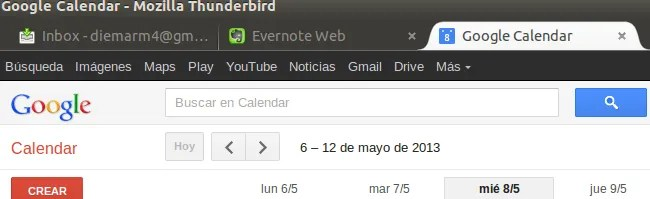 Thunderbird + Evernote + Google+