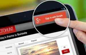 botón iniciar sesión google