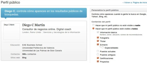 LinkedIn configurar privacidad