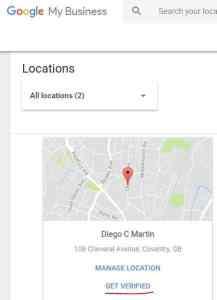 verificar la ubicación en google my business