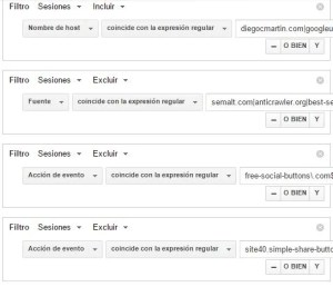 referral spam segmento Analytics