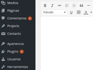 panel de edicion intuitivo con wordpress