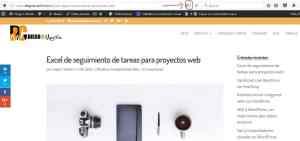 Acceder al modo lectura en Firefox