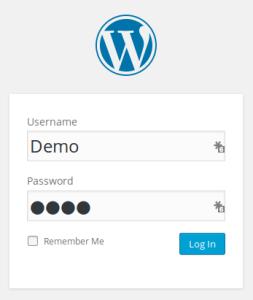 demo wordpress