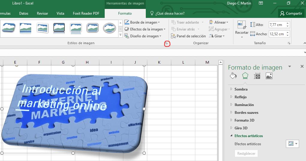 Efectos de imagen en MS Office