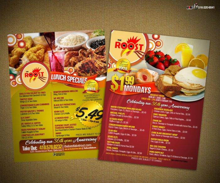 the roost menu