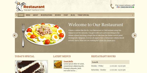 Templatic - Restaurant