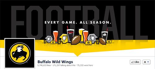 Buffalo Wild Wings, restaurante en redes sociales