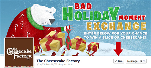 The Cheesecake Factory restaurante en redes sociales