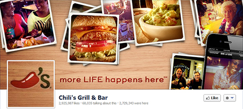 Chili's Grill & Bar restaurante en redes sociales
