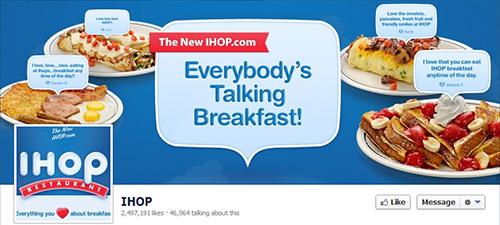 IHOP restaurante en redes sociales