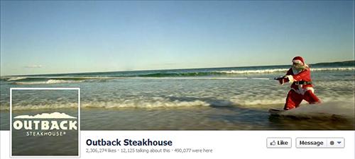 Outback Steakhouse restaurante en redes sociales