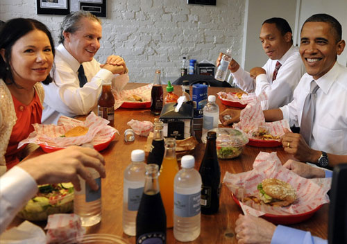 President-Obama at Good-Stuff-Eatery,-Washington