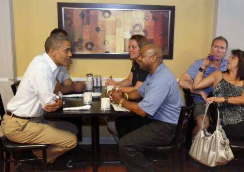 President-Obama at Rick's-City-Diner