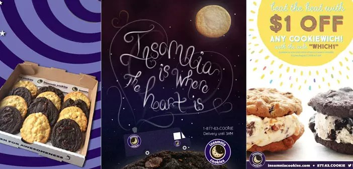 Ads and promotions Insomnia Cookies