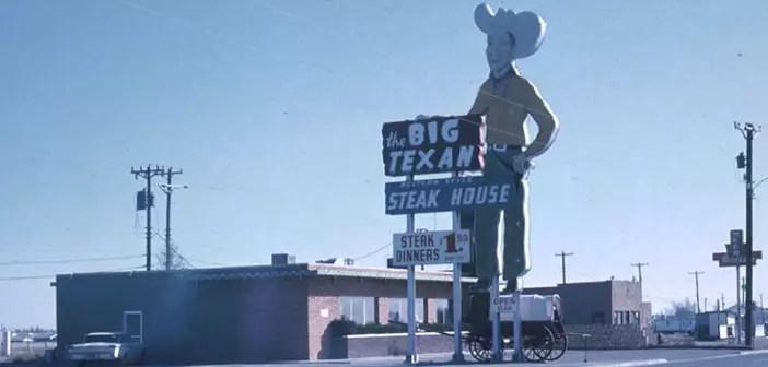 The legendary restaurant Route 66 Big Texan Steak Ranch