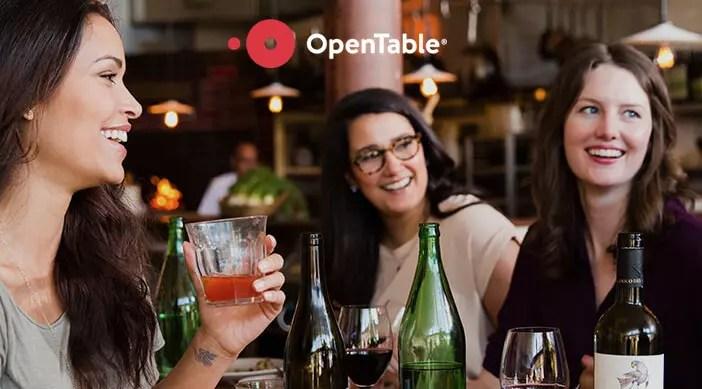OpenTable portal de reservas online
