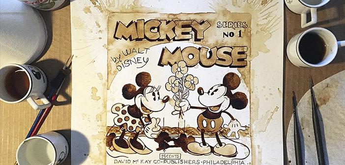 Artista-Maria-A-Aristidou-pintura.Mickey Mouse