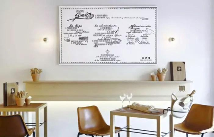 Restaurant ham sandwich and Champagne