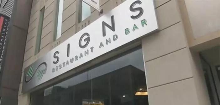 Fachada del restaurante Signs