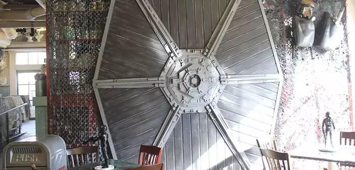 Rebel Hangar restaurant-inside