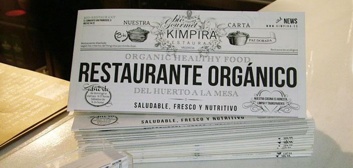 La carta del restaurante Kimpira