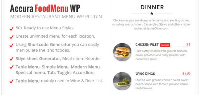 Accura Food Menu WP