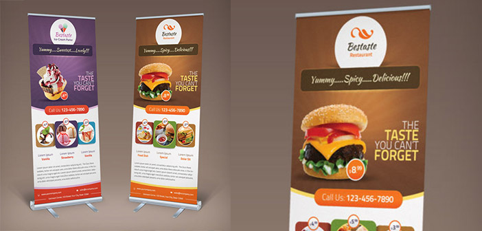 Roll ups design pour les restaurants