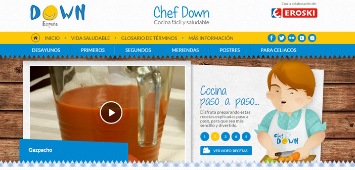 The first online cooking channel specifically designed for young people with Down syndrome prepare their own menus