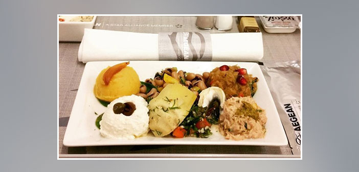 Aegean-Airlines---Dinner-in-business-class