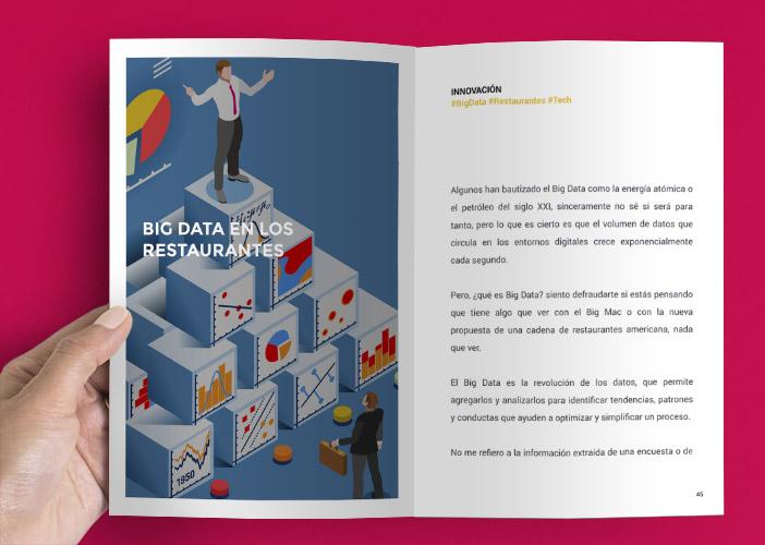 """Páginas extraídas del libro """"Una nueva era en los restaurantes"""" de Diego Coquillat"""