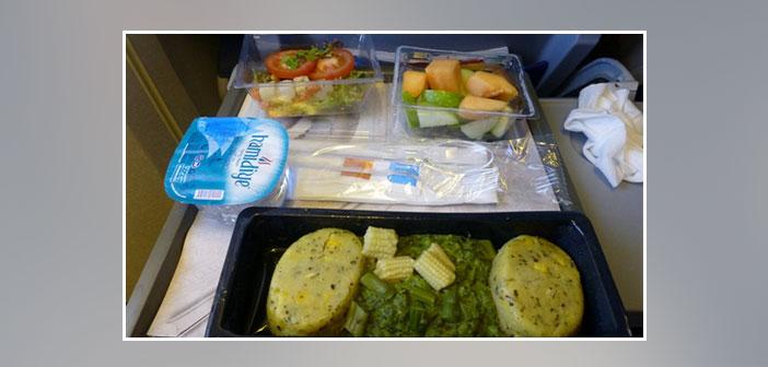 KLM --- Dîner en classe économique