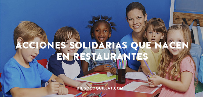 Reciclar los lápices de colores de los restaurantes-de la solidaridad a la concienciación