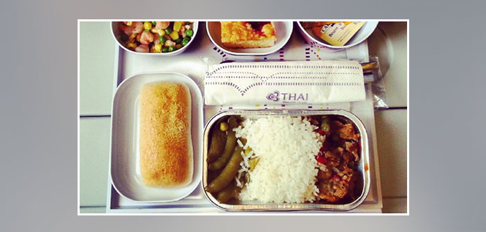 Thai-Airways---Dinner-in-economy-class