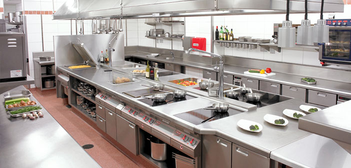 The design of the restaurant kitchen, that above all must be practical, practical and hygienic.