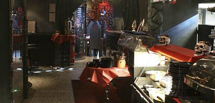 Laponie, Finlande, groupe de rock Lordi a ouvert les portes d'un restaurant créé à son image et ressemblance.