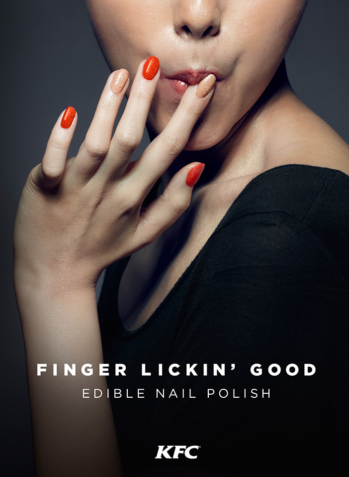 KFC has dared to launch in the Chinese market is designed for both men and women edible nail polish.
