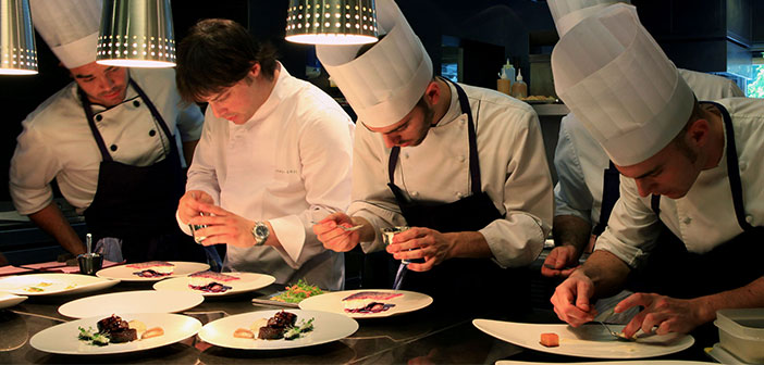 ABaC restaurant kitchen in Barcelona