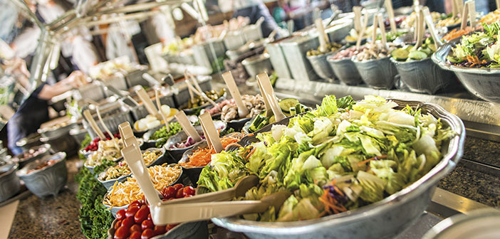 Order an entree as a main course, for example, a salad or creamed vegetables, trying to avoid sauces, both starters and main.