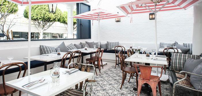 Ресторан Au Fudge принадлежит актрисе Джессике Биль в Лос-Анджелесе. Пример мульти-гастрономического пространства, дружелюбный для детей и с marketplace.