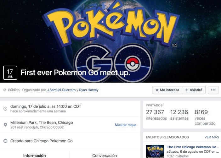 Pokémon Go party in a restaurant