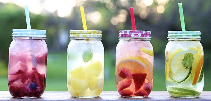 Flavored waters.