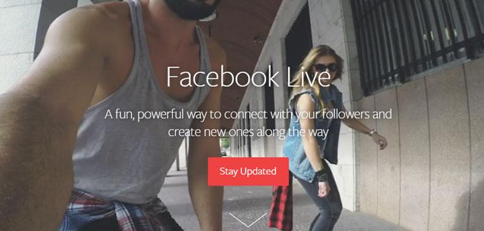 Le système est aussi simple que d'entrer Facebook à partir de votre smartphone et appuyez sur le bouton & quot; transmettre & quot;.