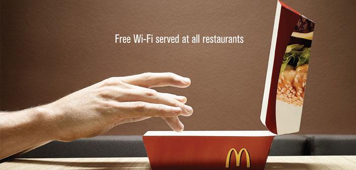 La conexión Wi-Fi de los restaurantes McDonalds